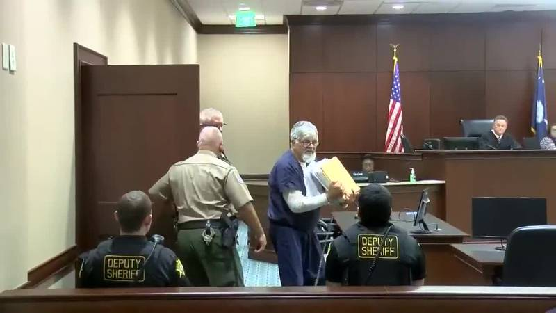 Accused murderer Fred Hopkins appeared in court Thursday for an appearance.