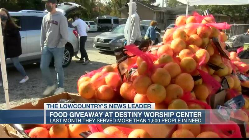 VIDEO: Monthly food giveaways at Destiny Worship Center feed thousands