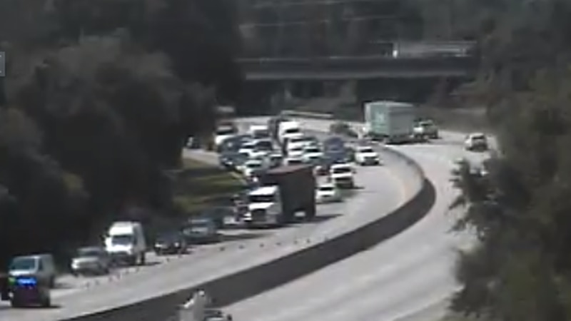 The SCDOT says the crash is one mile after Exit 215 toward Dorchester Road in North Charleston.