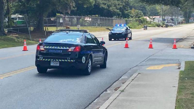Authorities say a suspicious package in West Ashley turned out to be a wedding dress that was...