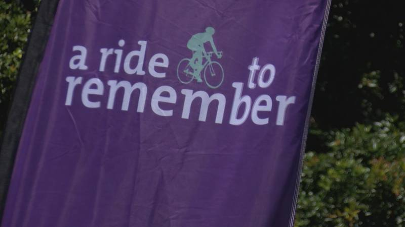 Cyclists riding across the state to raise money to fight Alzheimer's disease are set to cross...