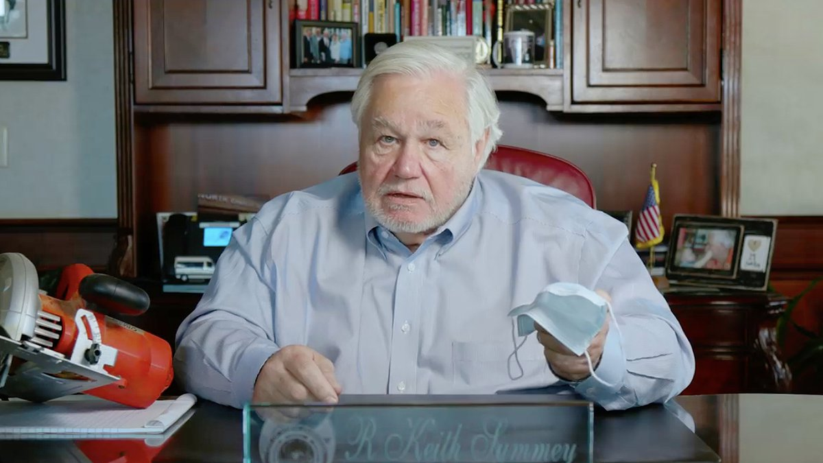 North Charleston Mayor Keith Summey is urging citizens to wear face masks, and said he did not...