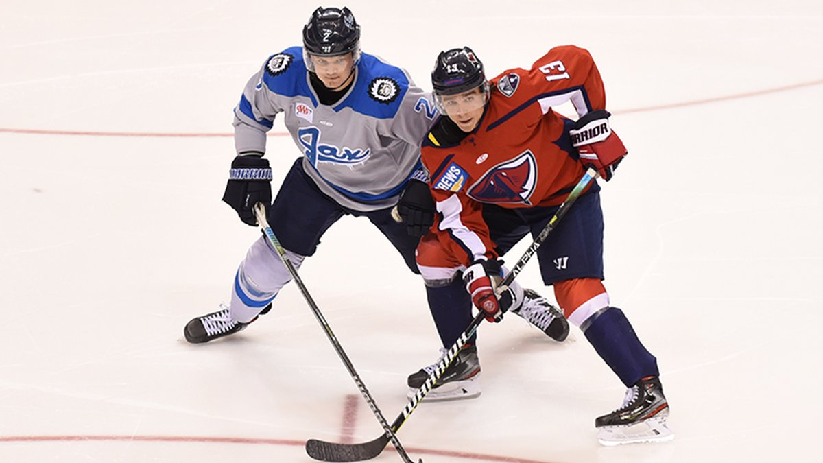 Pascal Aquin knocked home a rebound 4:33 into overtime to give the Jacksonville Icemen...