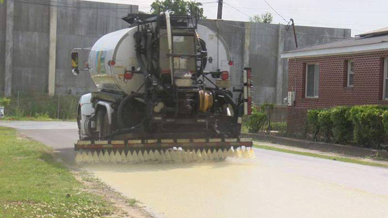 Charleston County is testing a new type of asphalt treatment which includes titanium dioxide.