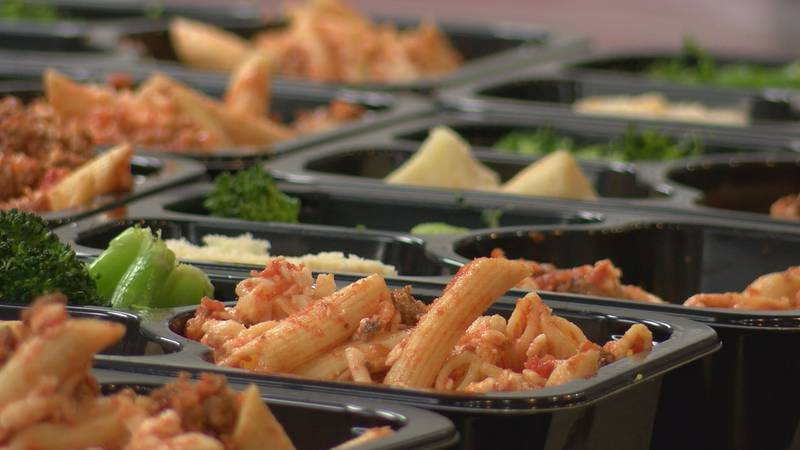 One80 Place restarted its lunch program after it was suspended last summer due to COVID-19.