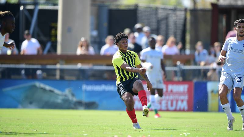 Nicque Daley had 2 goals as the Battery earned a 4-3 win over Hartford on Sunday