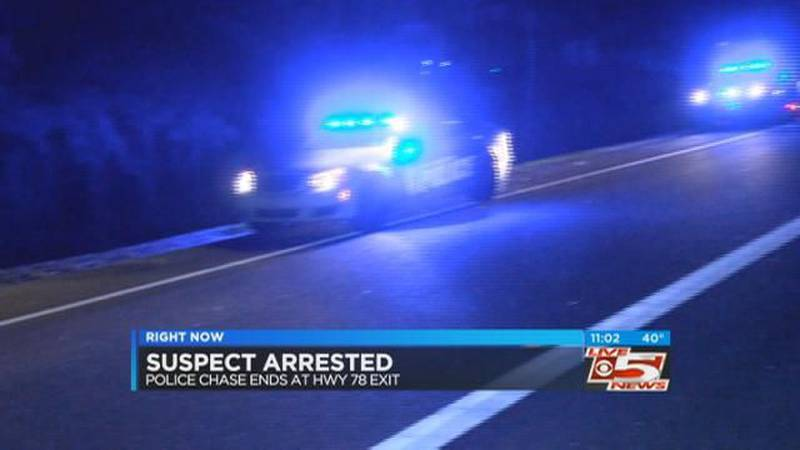 VIDEO: Police: Suspect captured after fleeing from scene of I-26 chase, crash