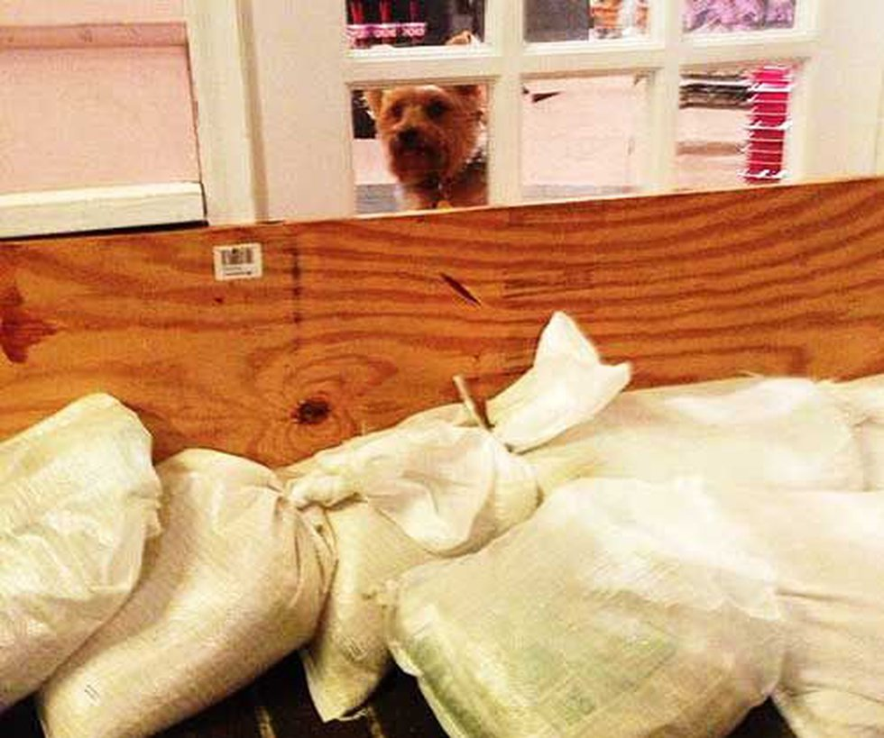 Store owners at Charleston market prepare for the worst. (Photo: Debi Chard)