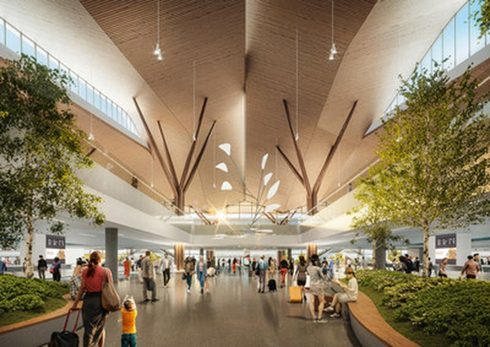 Pittsburgh's airport of the future is officially under way. Officials broke ground on a new...