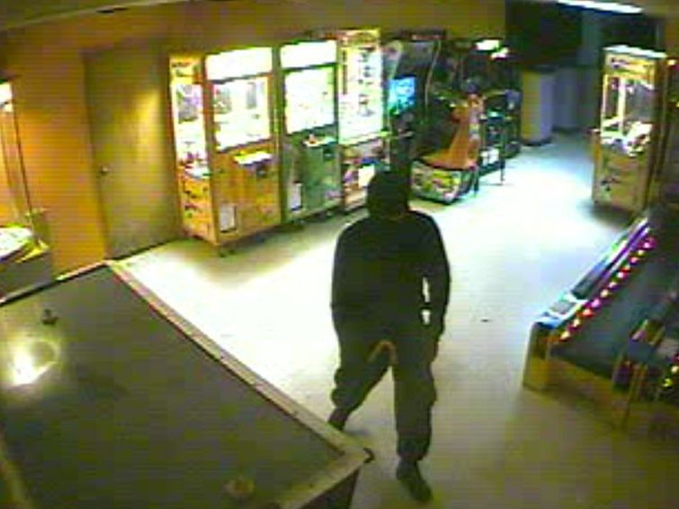 Surveillance footage from the bowling alley. (Source: MCPD)