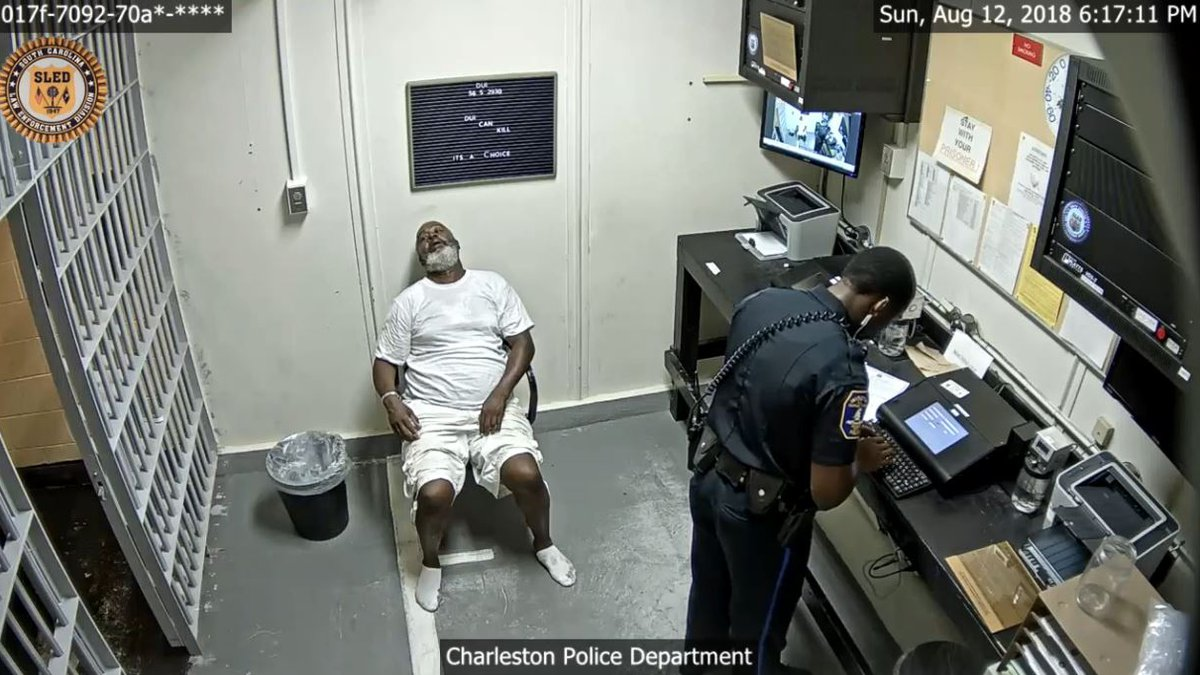 Nathaniel Rhodes at Charleston police headquarters during his datamaster test. (Source: Provided)