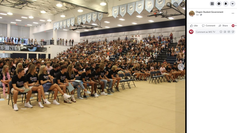 School District Five says Chapin High School assembly violated district COVID guidelines