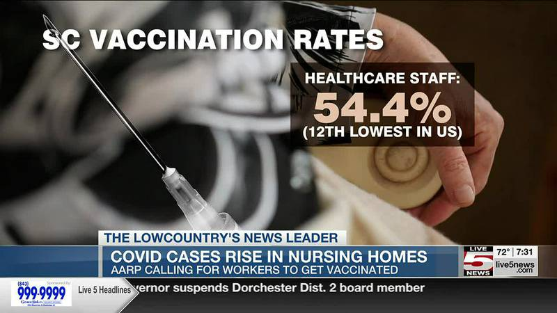 AARP calls for nursing home vaccine mandate as South Carolina's resident cases, deaths sharply...