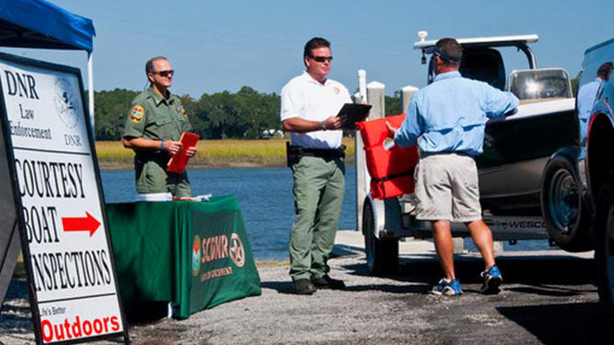 SCDNR officers will perform quick but thorough inspections for required safety equipment and...