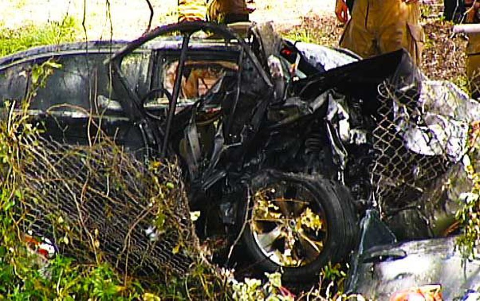 Picture of the car involved in the accident.