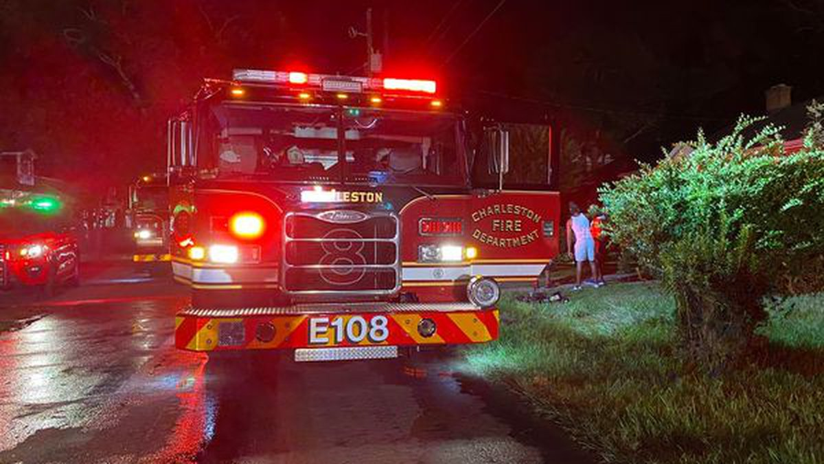 The Charleston Fire Department says their crews rescued a man from a house fire in downtown...