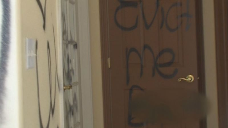 A Colorado Springs home is covered in graffiti as a previous tenant is accused of causing about...