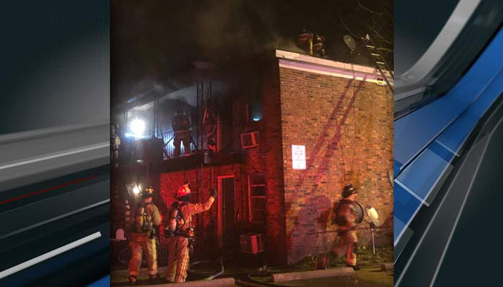 A caller reported a fire at this North Charleston apartment building at 12:53 a.m. Wednesday...
