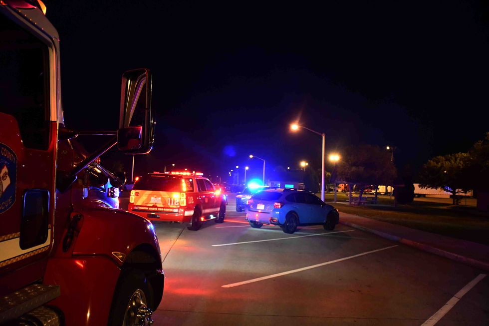 Emergency officials said authorities located a second man in the southbound rest area with...