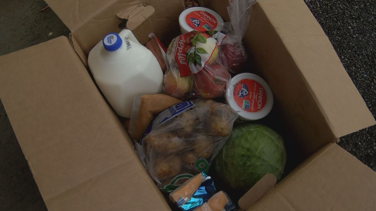 The food distribution wasn't hosted by one individual group or person, but Jeffrey Hulum III...