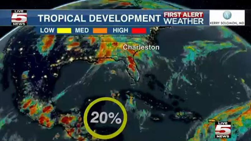 Forecasters are monitoring a low pressure area that could form into a tropical system later...