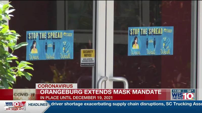Orangeburg extends mask mandate; face coverings required until Dec. in city
