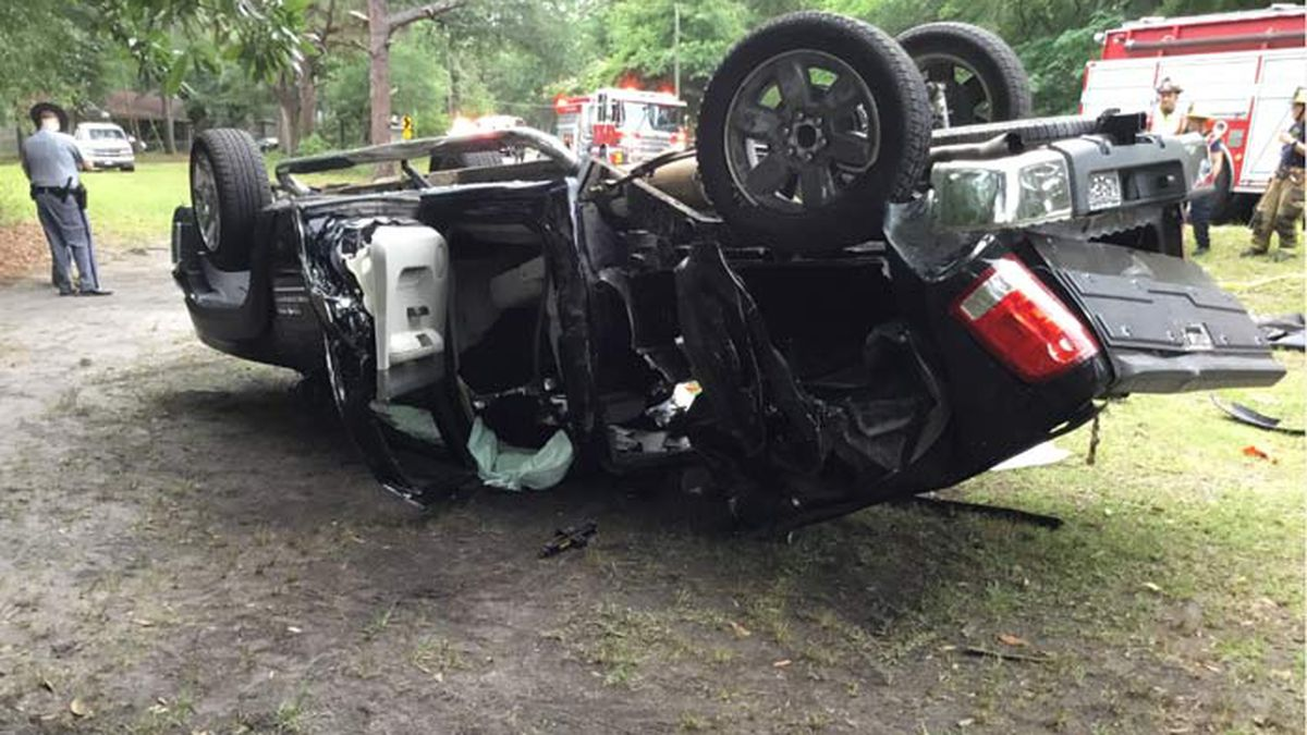 The Burton Fire District and Beaufort County EMS responded to the crash on Bruce K Smalls Drive...