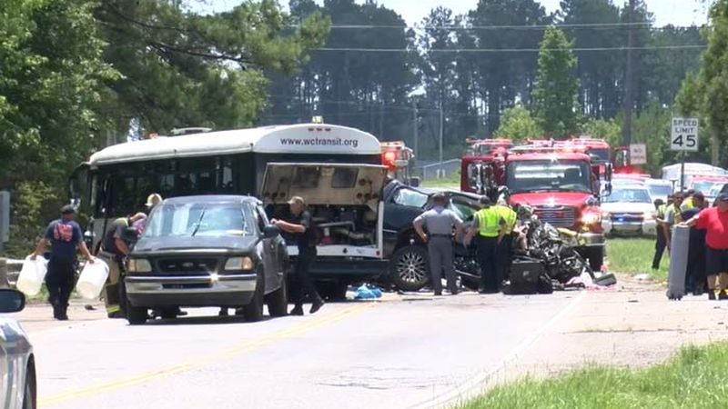 Troopers say the crash happened at about 7:19 a.m. Saturday at Browns Ferry Road near Johnson...