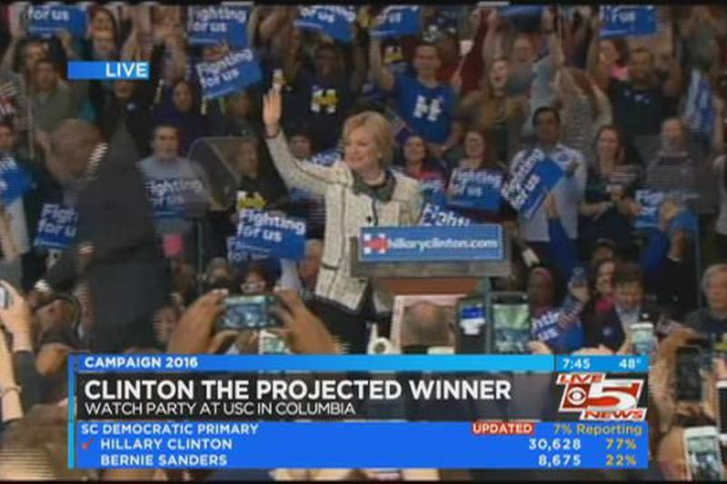VIDEO: Clinton speaks from Columbia on S.C. primary victory