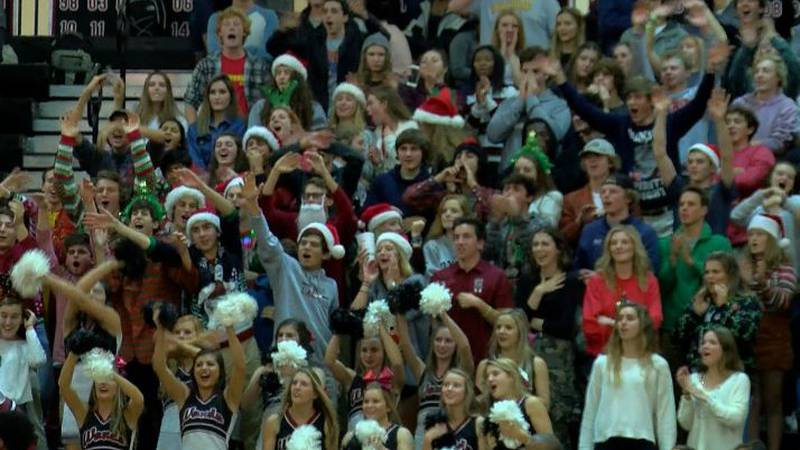 Wando students cheer during the Warriors game against West Ashley.