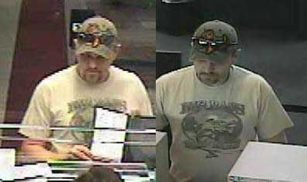 Still photos from the Jan. 15 West Columbia robbery (left) and the Jan. 29 Summerville robbery...