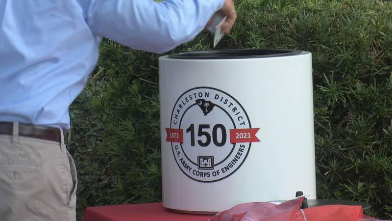 The US Army Corps of Engineers Charleston District will open the time capsule in 2046.