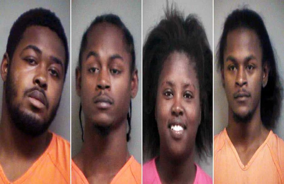 Hardwick, D. White, Armstrong and A. White. (From left to right - Source: GCSO)