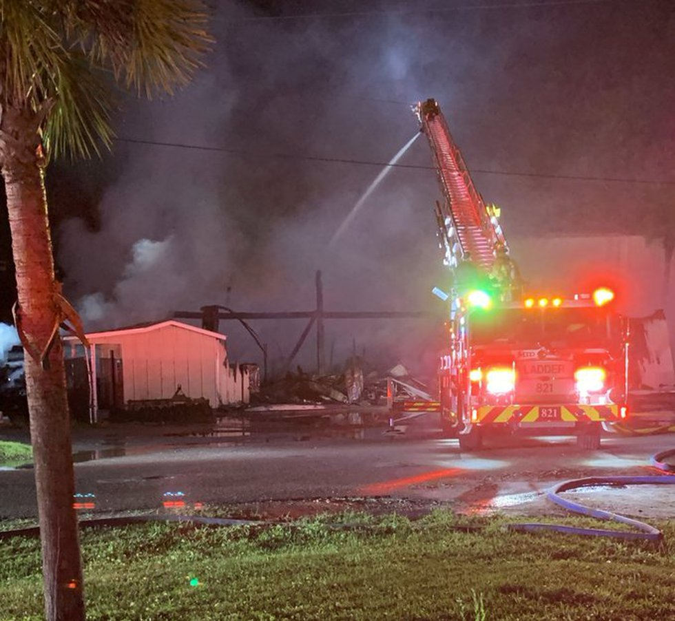 Crews are on scene of a fire at a lumberyard in Pawleys Island.