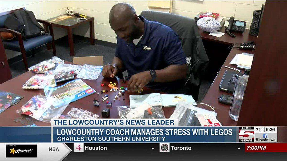 CSU head coach Autry Denson unwinds by assembling Lego sets