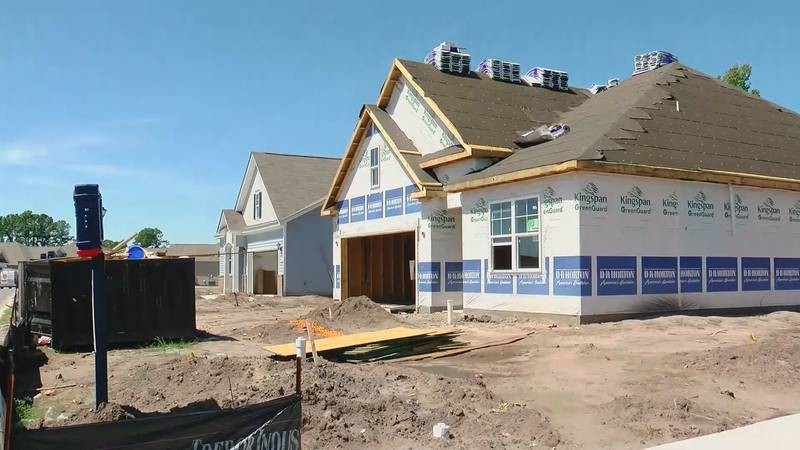 New homes continue to be built frequently in Horry County.