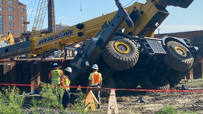 An Ohio-based concrete construction company is investigating after a crane collapsed in...