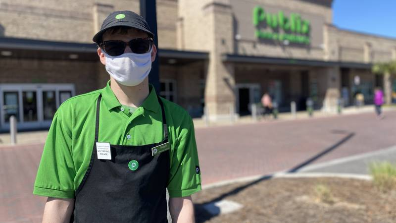 Noah Lisle is celebrating four years working with Publix in the Lowcountry.