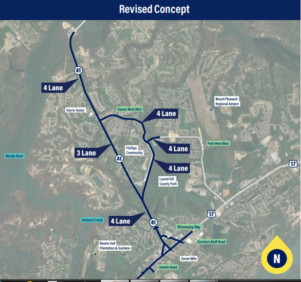 The new plan will still widen the highway to four lanes, but it will go around the Phillips...