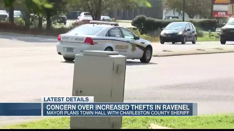 VIDEO: Ravenel mayor concerned about uptick in thefts in town