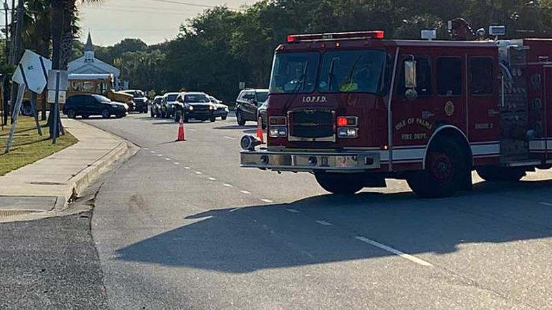 Authorities blocked off a portion of Palm Boulevard and the Isle of Palms Connector after a...
