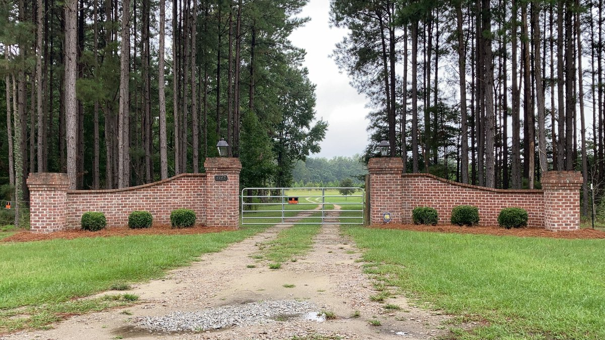 The gates near Alex Murdaugh's home in Islandton, S.C., are seen in this Monday, Sept. 20, 2021...