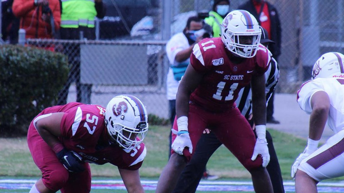 SC State won their first home game of the spring beating Delaware State on Saturday