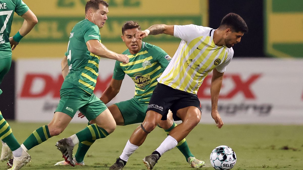The Tampa Bay Rowdies match against Charleston Battery at Al Lang Stadium. (Photo by Mike...