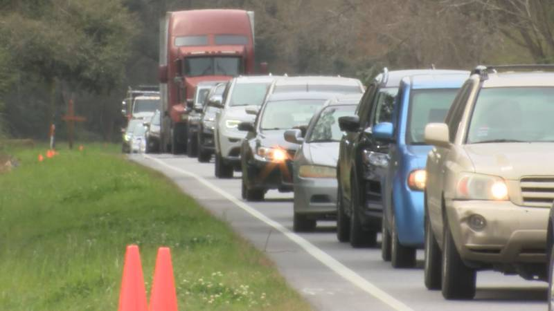 A vaccination clinic in Hollywood caused traffic in the area of Highway 162 and 165.