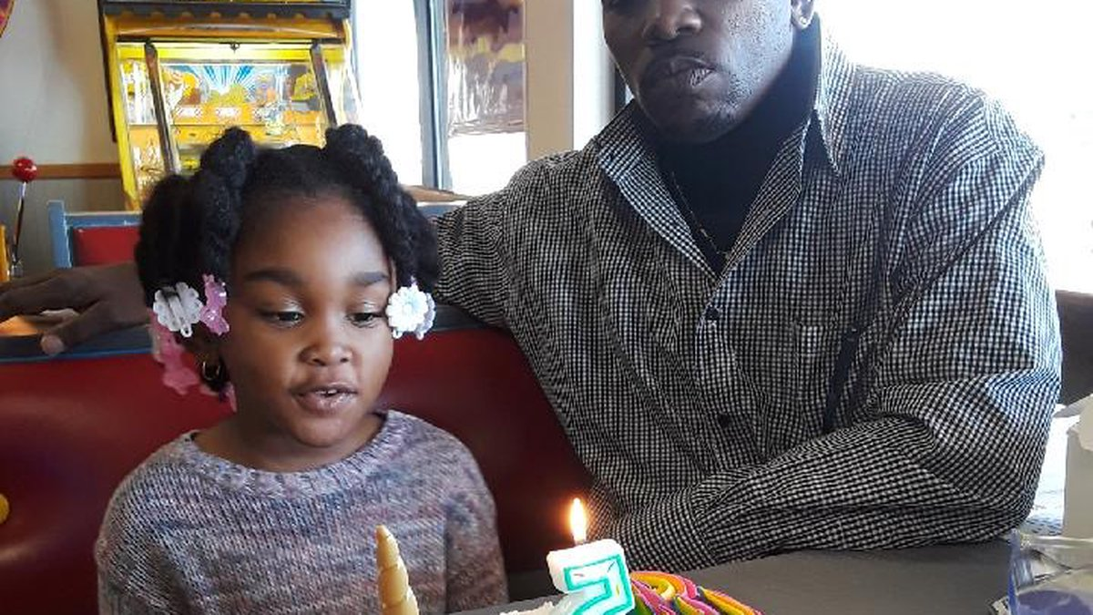 Nevaeh Adams and her father Dupree Adams