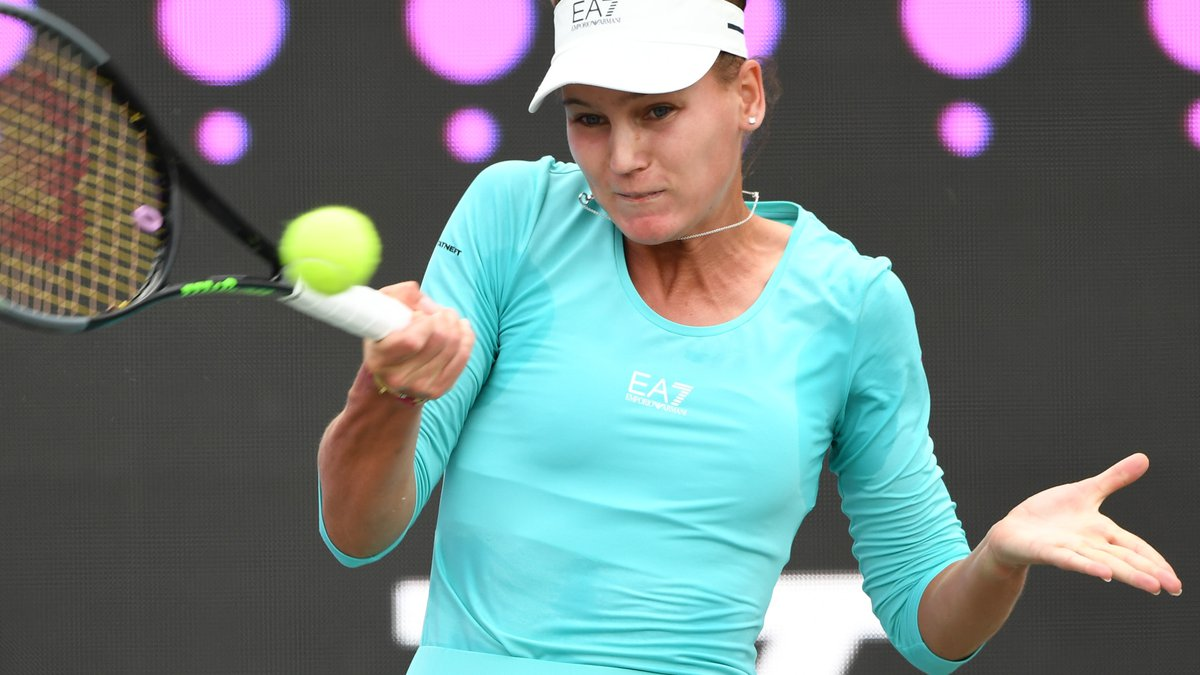 Veronikia Kudermetova of Russia and Danka Kovinic of Montenegro will play for their first WTA...