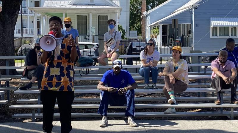 Saturday afternoon, around 15 Charleston Black Lives Matter activists showed up at Phillip...