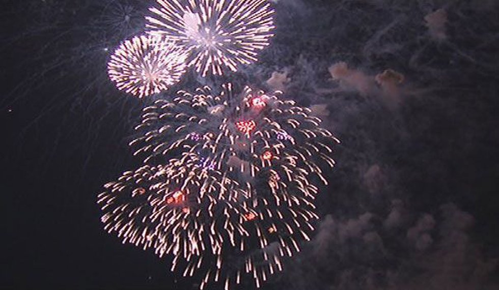 Fireworks are seen here in Boston for the 4th of July.