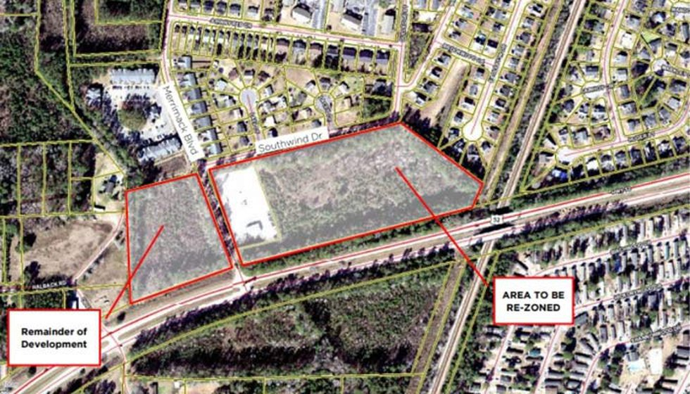 The site for the new proposed townhomes is 344 Merrimack Boulevard. There is currently an RV...